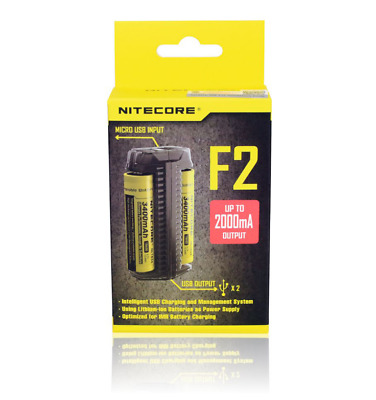 NEW  Nitecore F2 Slots Portable Flexible Power Bank Outdoor Charger For Li-ion/I