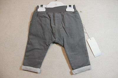 Baby Boy Size 00,0 Precious Plum Winter Grey Corduroy Pants NWT