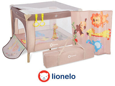 Portable Child Baby Infant Playpen Travel Cot Bed Crawl Play Area Beige