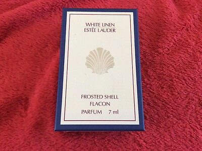 ESTEE LAUDER WHITE LINEN PARFUM Frosted Shell Flakon 7 ml