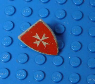 LEGO Minifig, Shield Triangular with White Maltese Cross on Red Background  x1PC