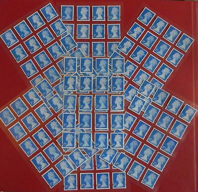 100 Genuine 2nd Class Stamps Unfranked Off Paper WITH ORIGINAL GUM Self-Adhesive
