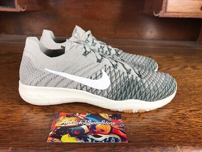aae0706288f4e NIKE FREE TR Flyknit 2 Womens Running/Training Shoe Grey/White 904658-002  Sz 6.5