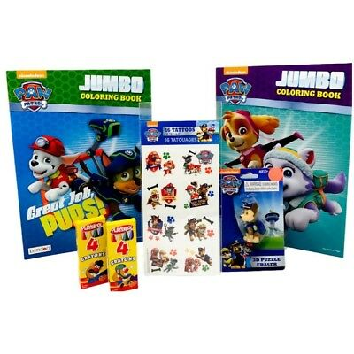 Paw Patrol Jumbo Colouring Book Ready For Action and Great Jobs Pups, 16 Paw