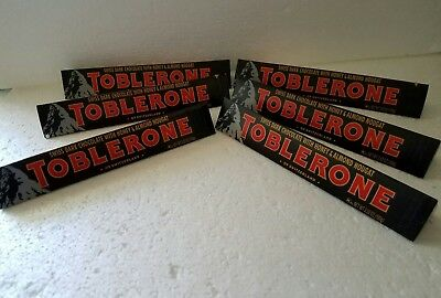 6 Toblerone Swiss Dark Chocolate Bars With Honey Almond
