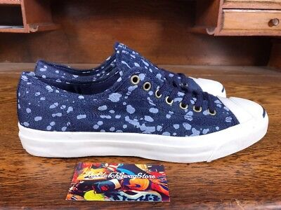 fe37773743978a New Converse Jack Purcell Jack OX Doz Canvas Blue White 142670C Mens Size 10