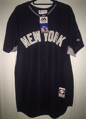 bd10f5272 New York Yankees Majestic BP Cool Base Majestic Authentic Jersey New!!!  Size 48