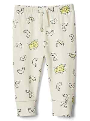 NEW Baby Gap 3-6 Months Organic Cotton Unisex Macaroni and Cheese Knit Pants