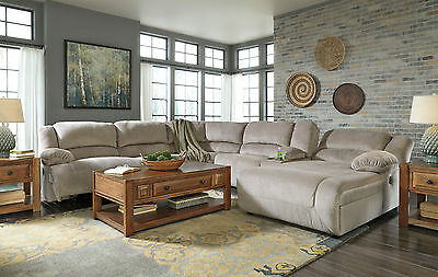 WALSH LIVING ROOM Couch Set Sectional GRAY Microfiber Reclining 6pcs Sofa  Chaise