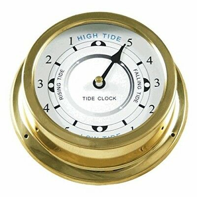 Ambient Weather TIDECLOCK-21 14cm Nautical Brass Quartz Tide Clock