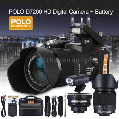 POLO HD 1080P 33MP 24X ZOOM DSLR Digitalkamera Video mit Weitwinkel TeleObjektiv