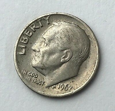 Dated : 1967 - American Coin - Roosevelt - One Dime - United States of America