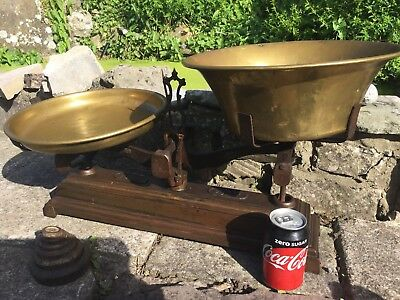 """Antique Shop/kitchen Scales, """"Force"""" 20 Kg Shop/bakery Scales, French Scales"""