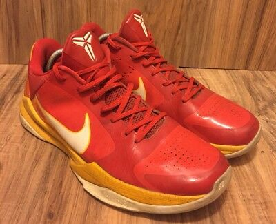 sports shoes a9014 33460 Nike Zoom Kobe V 5 China Comet Red White Del Sol Bryant 386429-600 2010