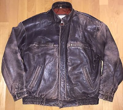 Christian Dior Le Connaisseur Vintage Leather Jacket Wshd Brown Men's 44