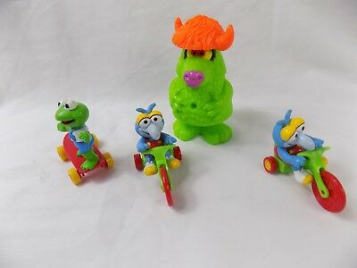 Lot of 4 McDonalds Jim Henson figures , gonzo , kermit ,1986 FAST SHIPPING