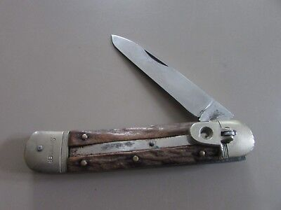 VINTAGE SPRINGER HUBERTUS Knife ~ Solingen Germany ~ Stag Handle ~ 8