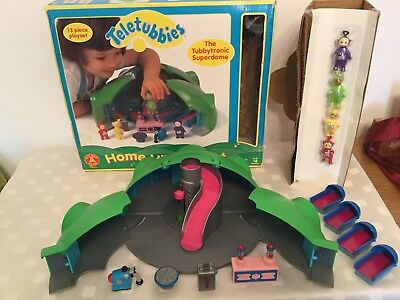 original teletubbies home hill playset boxed amp complete