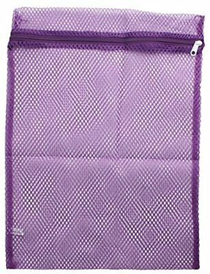 Mesh Zippered Laundry Sock Bag -Purple