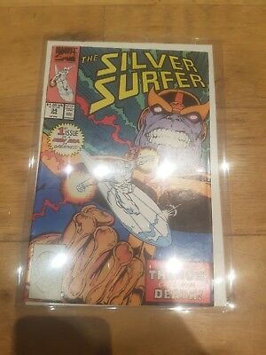 Silver Surfer #34 Return of THANOS first print  - VF RED HOT KEY !!