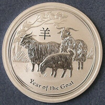Perth Mint 2015 Lunar Year Of The Goat ½ oz Half Ounce 99.9% Silver Bullion Coin