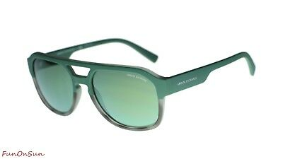73fd63577e4a Armani Exchange Sunglasses AX4074S 82476R Matte Grey Havana Light Green 57mm