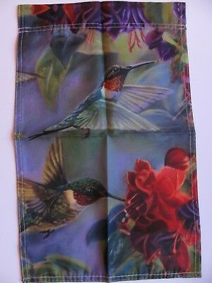 Hummingbird Garden Flag Indoor Outdoor Flowers Spring Summer US Seller New