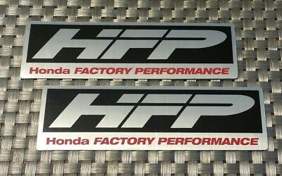 """HFP HONDA FACTORY PERFORMANCE 2 decals stickers 1.5X5""""FREE SHIPPING offroad imsa"""