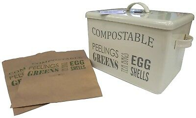 Burgon & Ball Compost bin - Jersey Cream. Shipping Included