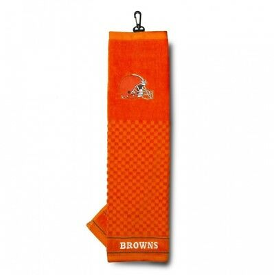 (Cleveland Browns) - NFL Cleveland Browns Embroidered Golf Towel. Team Golf