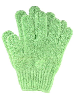 1 x Pair of Quality Green Exfoliating Glove ** FREE POSTAGE **