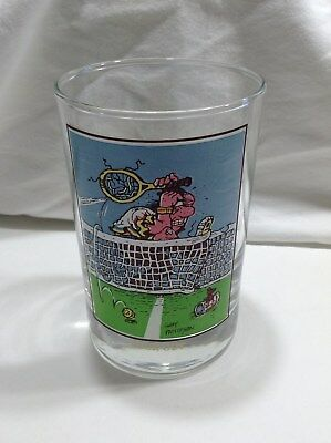Arbys 1982 Thought Factory 12 oz Gary  Patterson Tennis Luck Out Glass