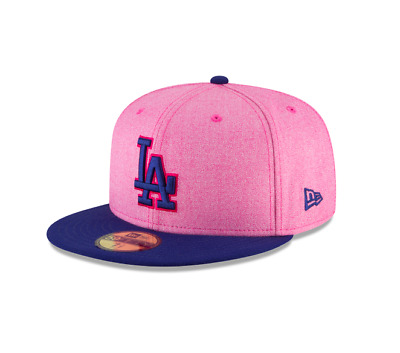 4a48f84d9ed Los Angeles Dodgers Adult NewEra 59FIFTY 2018 Mother s Day Fitted Hat Pink  Royal