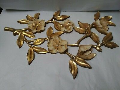 03 Vintage Syroco Dogwood Design Wall Hanging Decor ~ Excellent Used Condition