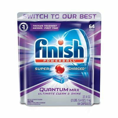 Finish Powerball Quantum Max Shine & Protect Dishwasher Tabs, Regular,64/pack,