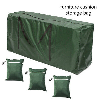 Large Outdoor Garden Furniture Cushion Storage Bag Pouch Waterproof Case Cover