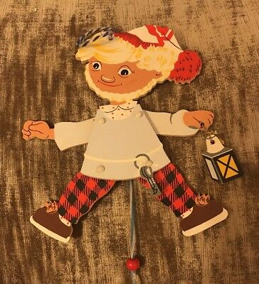Vtg Alfred Mertens 1968 West German Wooden Ornament Puppet Mertens Kunst