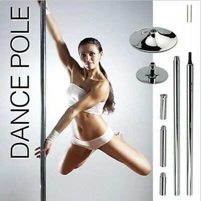 Portable Dance Pole Dancing Spinning Dancer Gym Fitness Stripper Static Exercise