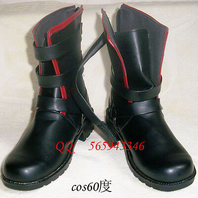 Fullmetal Alchemist Edward Elric Cosplay Halloween Boots shoes S008