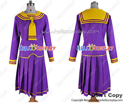 Fruits Basket Cosplay Navy Costume Purple Uniform H008