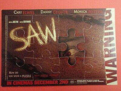 Postcard : SAW : 2004 promo 'jig-saw' card - unpunched