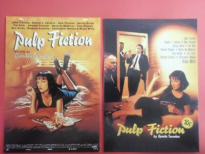 Postcard Lot of 2 : PULP FICTION