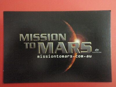 Postcard : MISSION TO MARS : Cinema Promo