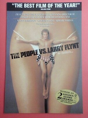 Postcard : THE PEOPLE VS. LARRY FLINT : Cinema Promo