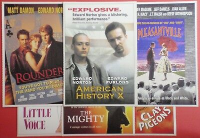 Postcard Set of 6 : Theatrical Promo Release : PLEASANTVILLE ROUNDERS ED NORTON