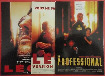 Postcard Lot of 3 : LEON / The PROFESSIONAL : Luc Besson