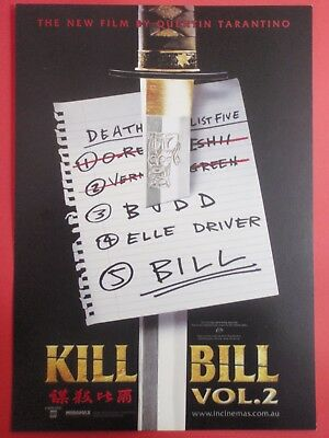 Postcard Over-sized : KILL BILL Vol. 2 : 2004