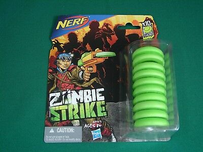 NERF Zombie Strike - 10 Disc refill pack (NEW, for Fusefire, Ripshot, Ricochet)