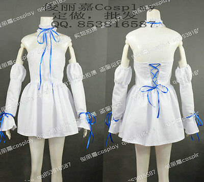 Chobits Chi White Halloween Paty Lolita Girls Dress Cosplay Costume J001
