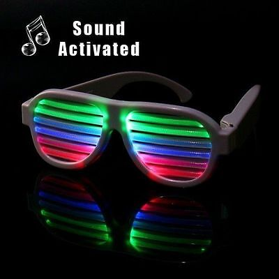 LED Light Glasses Shutter Shade Sound Activated for Christmas Party Decoration